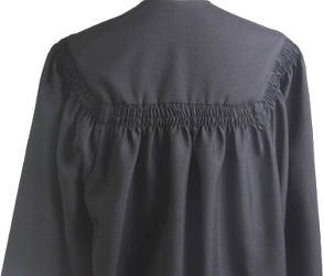 Bachelors Gowns - Black Color in Matte Finish - BACK